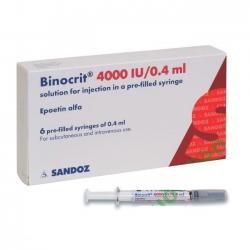 Thuốc Binocrit 4,000 IU/0.4ml, Hộp 6 bơm tiêm