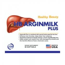 Thuốc bổ gan HB Arginmilk Plus, Hộp 60 viên