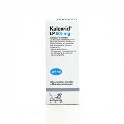 Thuốc bổ Kaleorid 600 - Kali clorid600mg, Hộp 3 vỉ × 10 viên