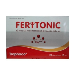 Thuốc bổ máu Traphaco Feritonic, Hộp 20 ống