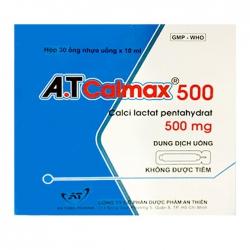 Thuốc bổ sung Canxi A.T Calmax 500mg/10ml, Hộp 30 ống