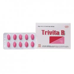 Thuốc bổ sung vitamin B1, B6, B12 Trivita B | Hộp 10 vỉ x 10 viên