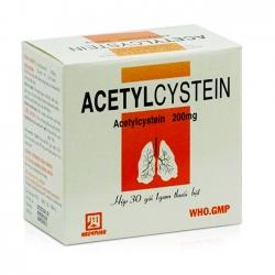 Thuốc bột Nadyphar Acetylcystein 200mg , 30 gói