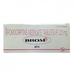 Thuốc Brom 2.5mg, Hộp 100 viên