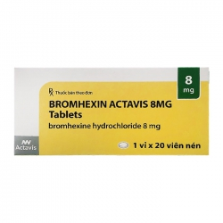 Thuốc Bromhexin Actavis 8mg, Hộp 20 viên