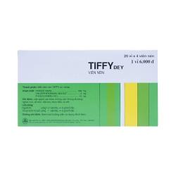 Thuốc Cảm Cúm Tiffy   Hộp 25 vỉ x 4 viên