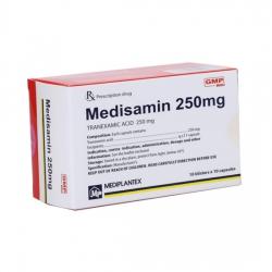 Thuốc cầm máu Medisamin 250 mg | Hộp 10 vỉ x 10 viên