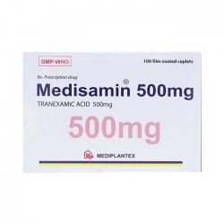 Thuốc cầm máu Medisamin 500Mg | Hộp 10 Vỉ x 10 Viên