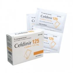 Thuốc Cefdinir 125mg DHG, Hộp 24 gói