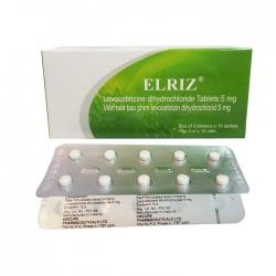 Thuốc chống dị ứng Emcure Elriz, Hộp 90 viên
