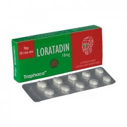 Thuốc chống dị ứng không gây buồn ngủ LORATADIN, Hộp 10 Viên