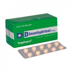 Traphaco Dimenhydrinat 50mg, Hộp 100 viên