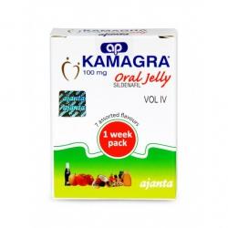 Thuốc cường dương Kamagra 100mg Oral Jelly | Hộp 7 gói
