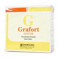 Thuốc dạ dày tá tràng Grafort 3g - Dioctahedral smectite 3g, Hộp 20 gói 20ml