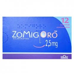 Thuốc đau đầu Zomig Oro 2,5mg hộp 12 viên