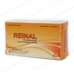 Thuốc đau nửa đầu Reinal 10 - Flunarizin 10mg, Hộp 6 vỉ x 10 viên