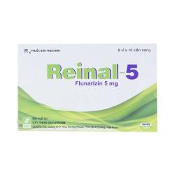 Thuốc đau nửa đầu Reinal 5 - Flunarizin 5mg, Hộp 6 vỉ x 10 viên