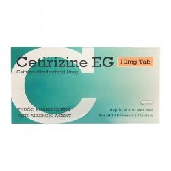 Thuốc dị ứng PMP Cetirizine EG 10mg