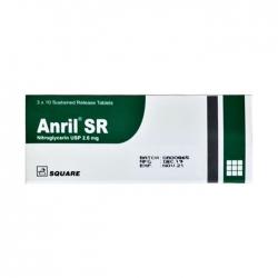 Thuốc điều trị đau thắt ngực Square Anril SR, Hộp 30 viên