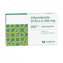 Thuốc điều trị giun, sán Stella Albendazol Stada 200mg