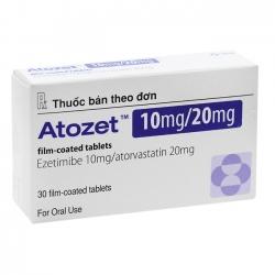 Thuốc điều trị mỡ máu Atozet 10mg/20mg 30 viên