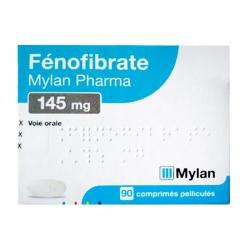 Thuốc điều trị mỡ máu Mylan Fenofibrate 145mg, Hộp 90 viên