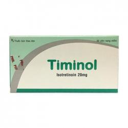 Thuốc điều trị mụn trứng cá Timinol 20mg, Hộp 30 viên