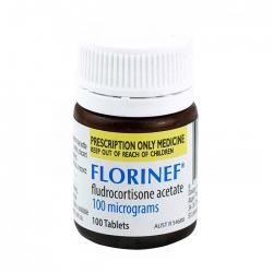 Thuốc điều trị suy vỏ thượng thận Florinef 100mcg, Chai 100 viên