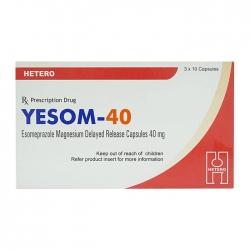 Thuốc điều trị trào ngược dạ dày Hetero Yesom 40mg, Hộp 30 viên