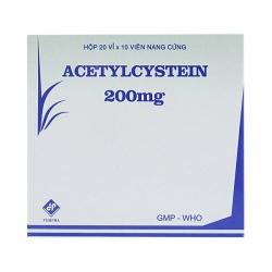 Thuốc đường hô hấp Acetylcystein 200 mg Vidipha | Hộp 20 vỉ × 10 viên