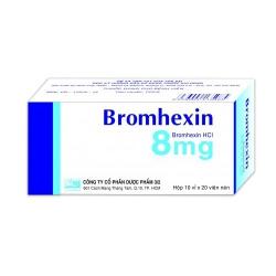 Thuốc đường hô hấp Bromhexin 8 - Bromhexine HCL 8mg