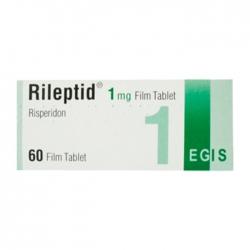 Thuốc Egis Rileptid Risperidone 1mg, Hộp 60 viên