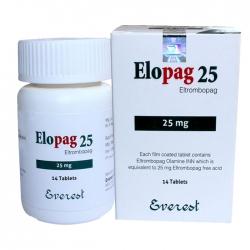 Thuốc Elopag Eltrombopag 25mg, Lọ 28 viên