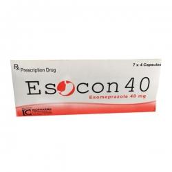 Thuốc Esocon 40, Esomeprazole 40mg, Hộp 28 viên