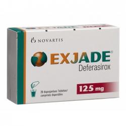 Thuốc Exjade 125mg, Hộp 28 viên