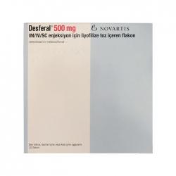 Thuốc giải độc Novartis Desferal 500mg, Hộp 10 lọ