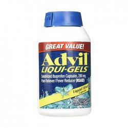 Thuốc giảm đau Advil Liqui Gels 200mg, Chai 200 viên