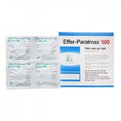 Thuốc giảm đau Effer Paralmax 500mg, Hộp 20 viên sủi