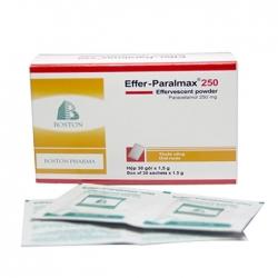 Thuốc giảm đau hạ sốt cho trẻ Boston Effer-Paralmax 250mg, Hộp 30 gói