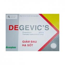Thuốc giảm đau hạ sốt Degevic's 10x10 viên