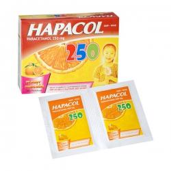 Thuốc Hapacol 250 DHG | Hộp 24 gói x 1,5 g