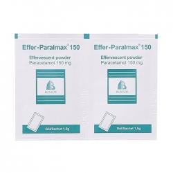 Thuốc giảm đau, hạ sốt trẻ em Effer-Paralmax 150mg, Hộp 30 gói