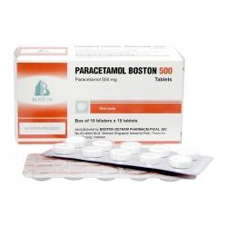 Thuốc giảm đau Paracetamol Boston 500mg, Hộp 100 viên