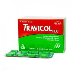 Thuốc giảm đau TV.Pharma Travicol Flu, Hộp 100 viên