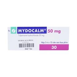 Thuốc giãn cơ Mydocalm 50 - Tolperisone HCl 50mg, Hộp 3 vỉ x 10 viên