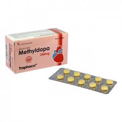 Traphaco Methyldopa 250mg, Hộp 100 viên