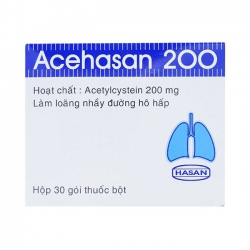 Thuốc ho Hasan Acehasan 200mg, Hộp 30 gói