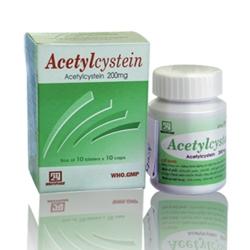 Thuốc ho Acetylcystein 200mg Nadyphar, Chai 80 viên