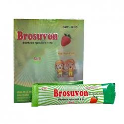 Thuốc hô hấp Brosuvon 4mg 20 gói Phapharco