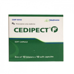 Thuốc hô hấp Imexpharm Cedipect F, Hộp 100 viên